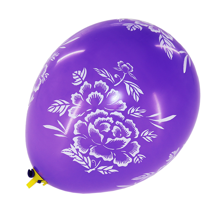 new design decorations custom flower printing latex balloons