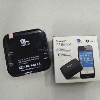 Sonoff Rf Bridge Wifi 433mhz Smart Home Automation Universal Switch  Intelligent Domotica Universal Timer Wi-fi Rf Remote Control - Buy 433mhz  Smart