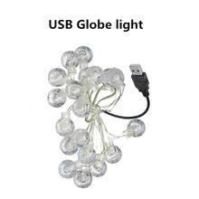Светодиодные сказочные гирлянды, серебристая линия, теплый белый Аккумулятор AA/USB источник питания для свадьбы, праздника, Рождества, украш...(Китай)