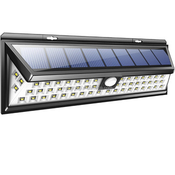 SOLAR LIGHTS OUTDOOR 54 LEDs, Super Bright Motion Sensor Lights with Wide Angle Illumination, Wireless