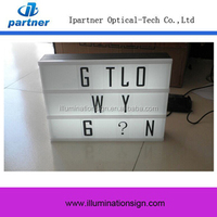 Custom Led Mini Led Light Box, A5 Acrylic Light Box With Letters