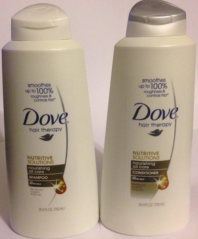 Dove Hair Therapy - Nourishing Oil Care - Shampoo & Conditioner Set - Net Wt. 25.4 FL OZ (750 mL) Each - One Set