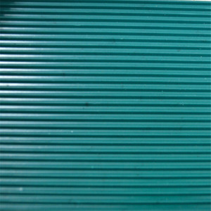 Green Ribbed Flame Retardant Neoprene Rubber Sheet