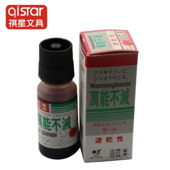 Environmental High Gloss Endorsing Indelible Colorful Stamp Pad Ink