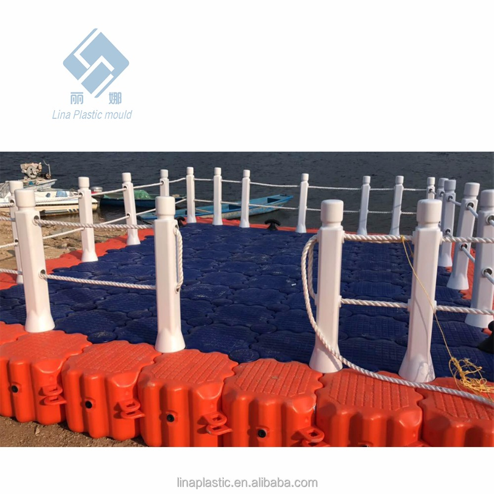 Pool float floating floating hdpe floating dock for solar boat swim platforms Polyethylene plastic pontoon