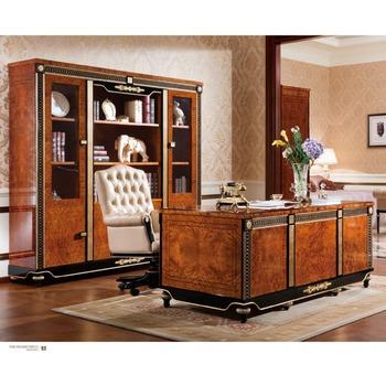Yb69 Barock Luxus Executive Büromöbel/antike Handgeschnitzten Tische ...