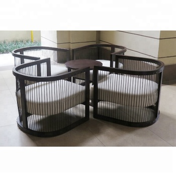 Designed Hotel Supplies Galvanized Steel Patio Furniture