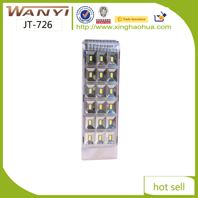 Newest Super Bright Powerfull Emergency light wanyi led rechargable 18smd led light