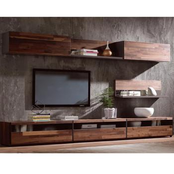 Tv Stand Walnut Wood Veneer Cabinet