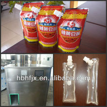 hot chilli garlic sauce 250ml spouted pouch/bag/ sachet filling capping packing machine