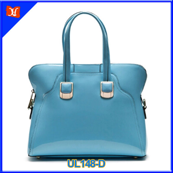 handbags ladies 2016 blue patent leather bag ladies office bags UL148-D