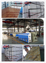 PVC INTERIOR DECORATION SHEET PRODUCTION LINE PRODUCTED FROM THE FOUNDER OF PVC EXTRUDER IN CHINA,HIGH QUALITY