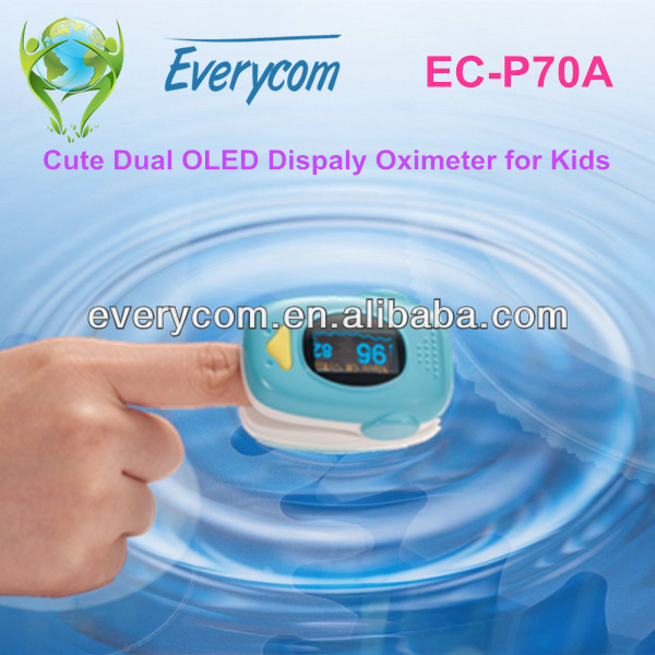 Medical Pediatric Equipment Finger Clip Pulse Oximeter for Children
