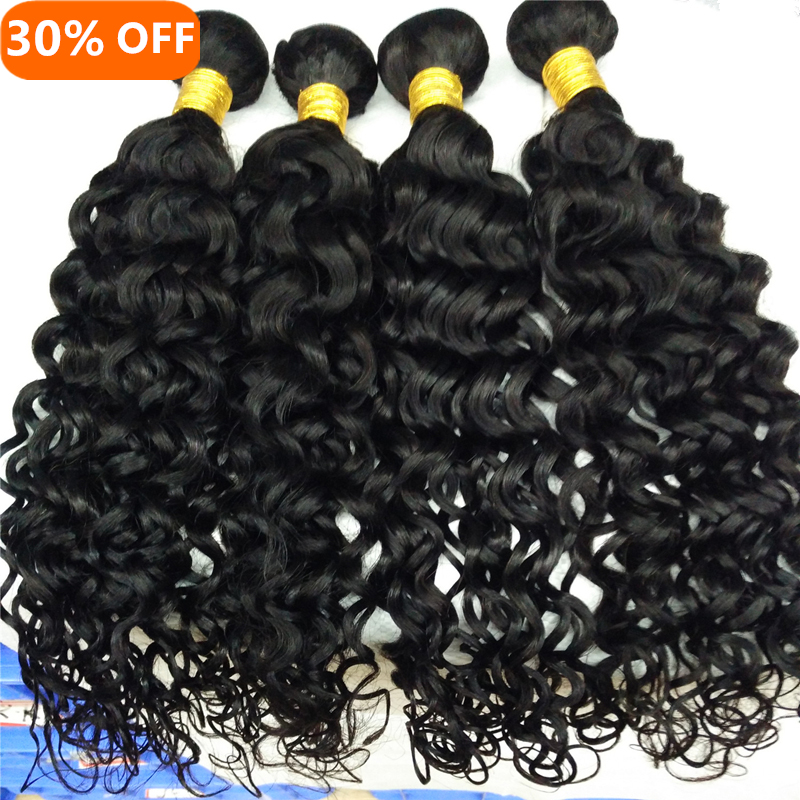 Letsfly 10PCS hair Wholesale unprocessed water wave loose deep curly human hair,virgin brazilian Jerry curl hair weave extension