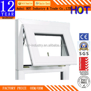 White PVC Frame Materials Small Window Awning Waterproof Soundproof Tilt & Turn Window With Handle Lock Wholesale Price