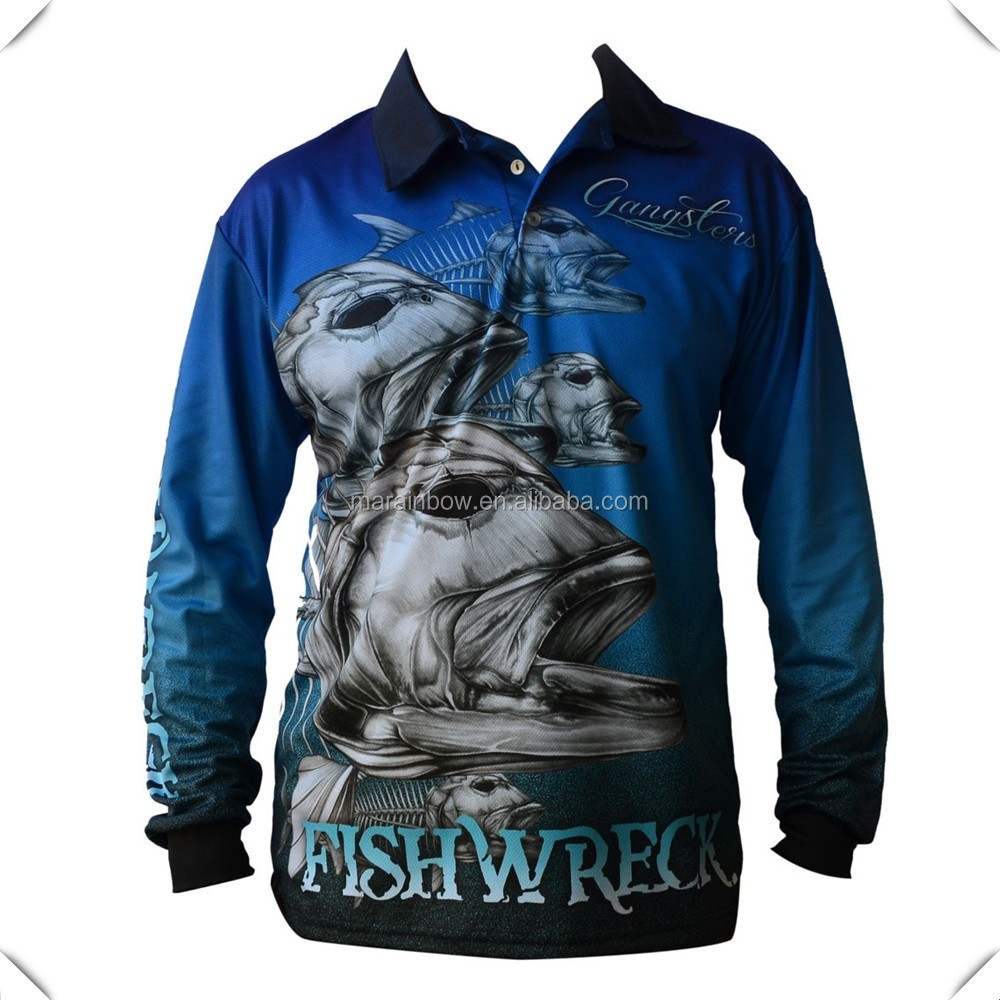 2a82c45c3 full sublimation printed 100% microfiber polyester upf50+ outdoor  performance fishing shirt custom mens long sleeve