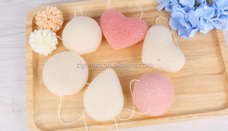 Organic Konjac Facial & Body Cleansing Sponge | Natural & Gentle Exfoliant | Cherry Blossom for Normal & Combination Skin