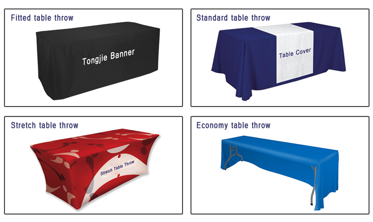 Trade Show Stretchable Type Table Cloth Print Your Own Logo