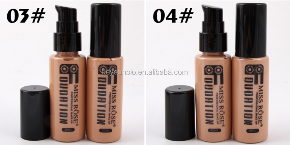 แนะนำรองพื้นชนิดน้ำ Miss Rose Matte Matte Waterproof Foundation Foundation Cream