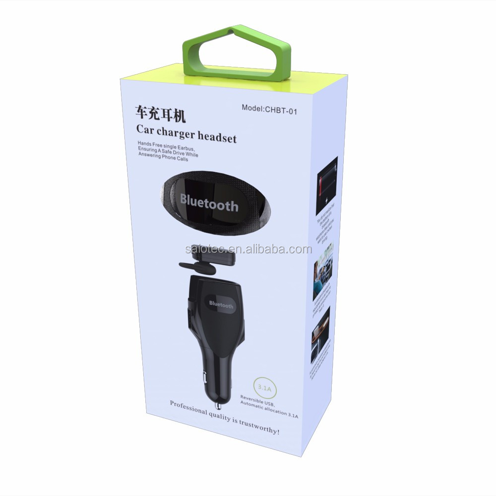 Car Charger with stereo mic , Rapid Dual Car Charger Adapter and earpiece,car charger earphone