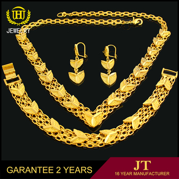 Latest Design Gold Jewellery Dubai Jewelry Sets 18k Gold Jewelry