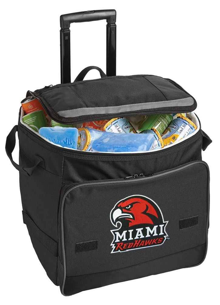 Miami University Cooler Miami RedHawks Rolling Cooler Bags