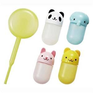 4 kawaii animal mini sauce containers for Bento Box