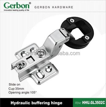 Slide On 35mm Cup Hydraulic Door Pivot Hinge For Glass Door Use