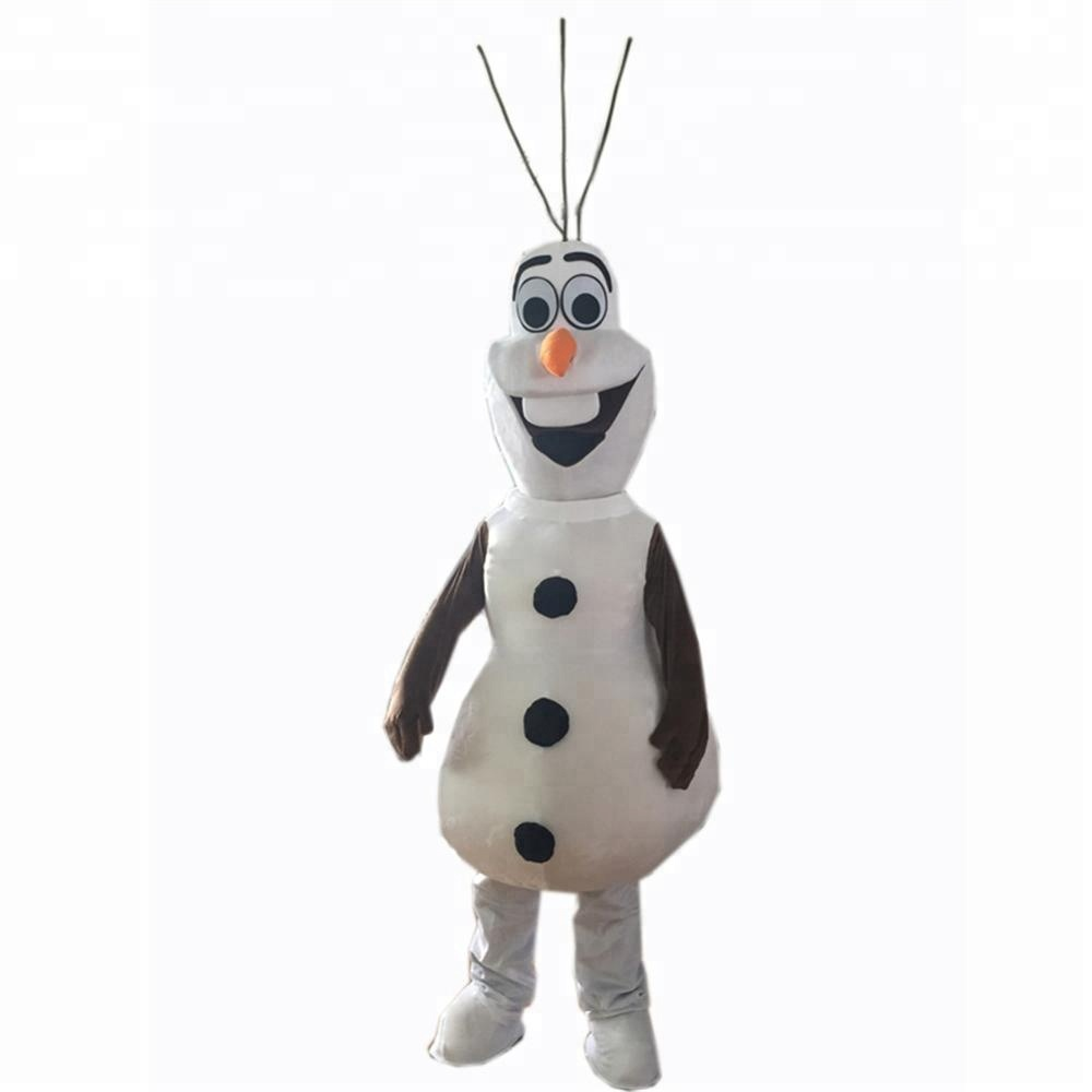 Snowman Olaf mascot costume Adult Size Christmas Party Fancy Dress Stock, As picture