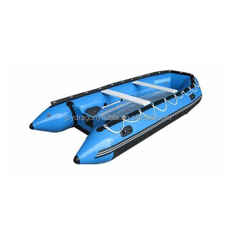 CE certificate aluminum floor inflatable boat for fishing