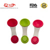 FDA&LFGB standard kitchen tools stainless steel silicone measuring spoon