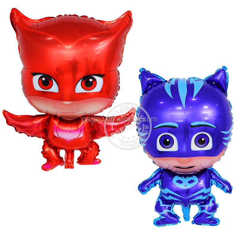 PJ masks foil balloons kids inflatable toys cartoon superman globos birthday party decorations kids air balloon party supplies