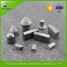 taizhou gangxin K034 inserts for coal mining ,oil&rock drilling tungsten carbide inserts