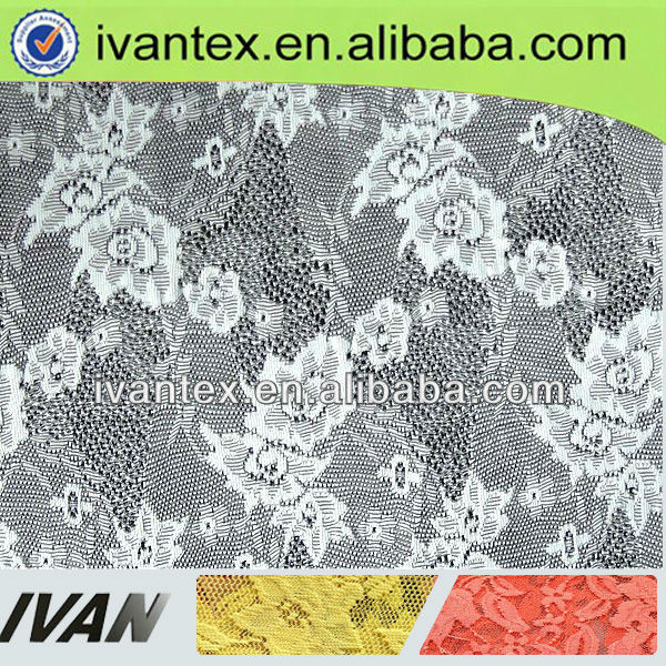 2013 fashion new design polyester fancy white bridal embroidered tulle lace fabric
