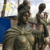 Wholesale New product bronze colour fiberglass sculpture Life Size roman soldier statue for home garden decor