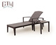 5 Star Hotel Furniture Used Swimming Pool Rattan Lounge Chairs with side table