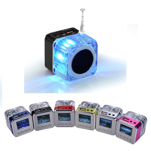 Portable Mini Aluminium USB Speaker Nizhi TT029 With FM Radio
