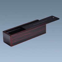 Slide Lid Wooden Tie Box For Necktie Gift Packing