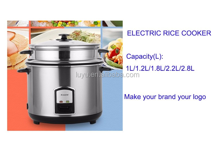 1.0/1.2/1.8/2.2/2.8L national electric rice cooker with glass cover