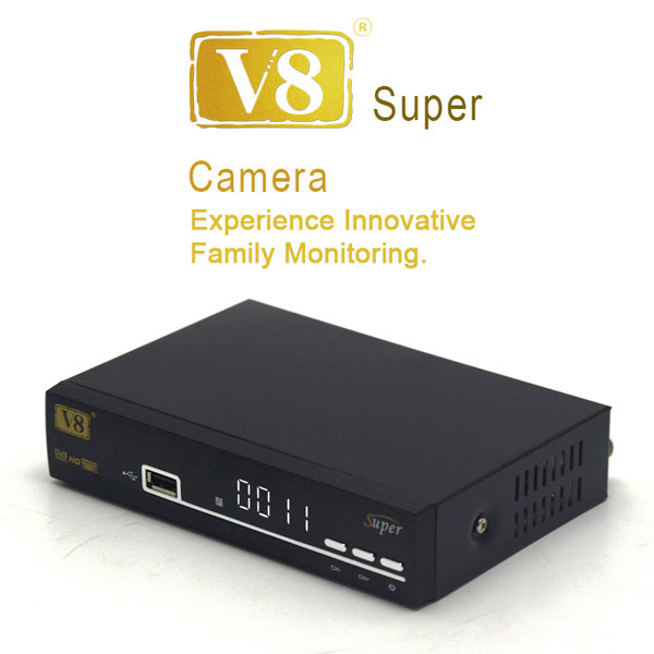 New DVB-S2 1080p hd digital satellite receiver V8 Super decoder free to air set top box support biss key cccam youporn