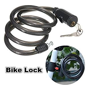 Bike Lock Lenght 120cm Steel Wire Rope Bicycle Antitheft Cable For MTB 2 Keys