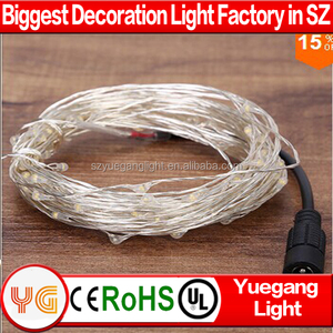 Christmas Silver plated Copper Wire 10M 100LED With DC Fairy Lights 12V LED String Light New Year Wedding Decoration Christmas
