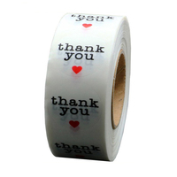 Custom Seal Packaging Adhesive Vinyl Sticker Roll Thank You Sticker