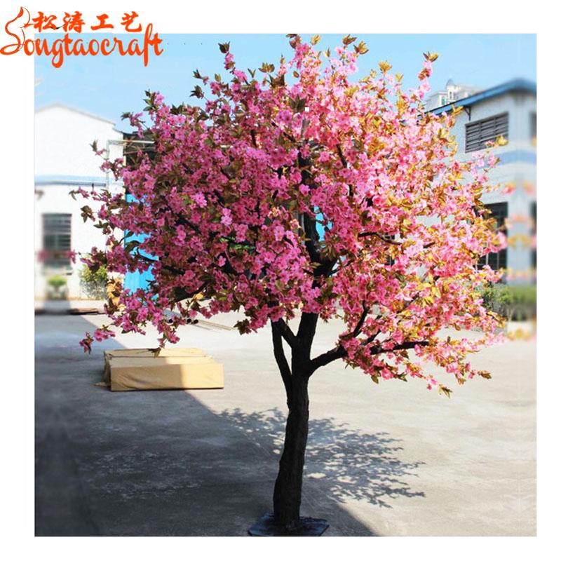Wholesale Plastic Flower Cherry Blossom Japanese Cherry Blossom