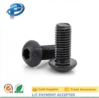 M3 M4 M5 M8 Button Head Socket Hex Socket Screws/Round Head Allen Screw ,Round Head hex socket machine screw Black zinc plated