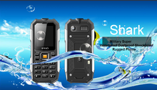 China factory production ipro shark 2 inch feature phone three proofing waterproof floating mobile large bottons
