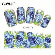 YZWLE 1 Pcs Nail Art de Água Adesivos de Unhas Beleza Wraps Foil Polonês Decalques Tatuagens Temporárias Watermark (YZW1378)