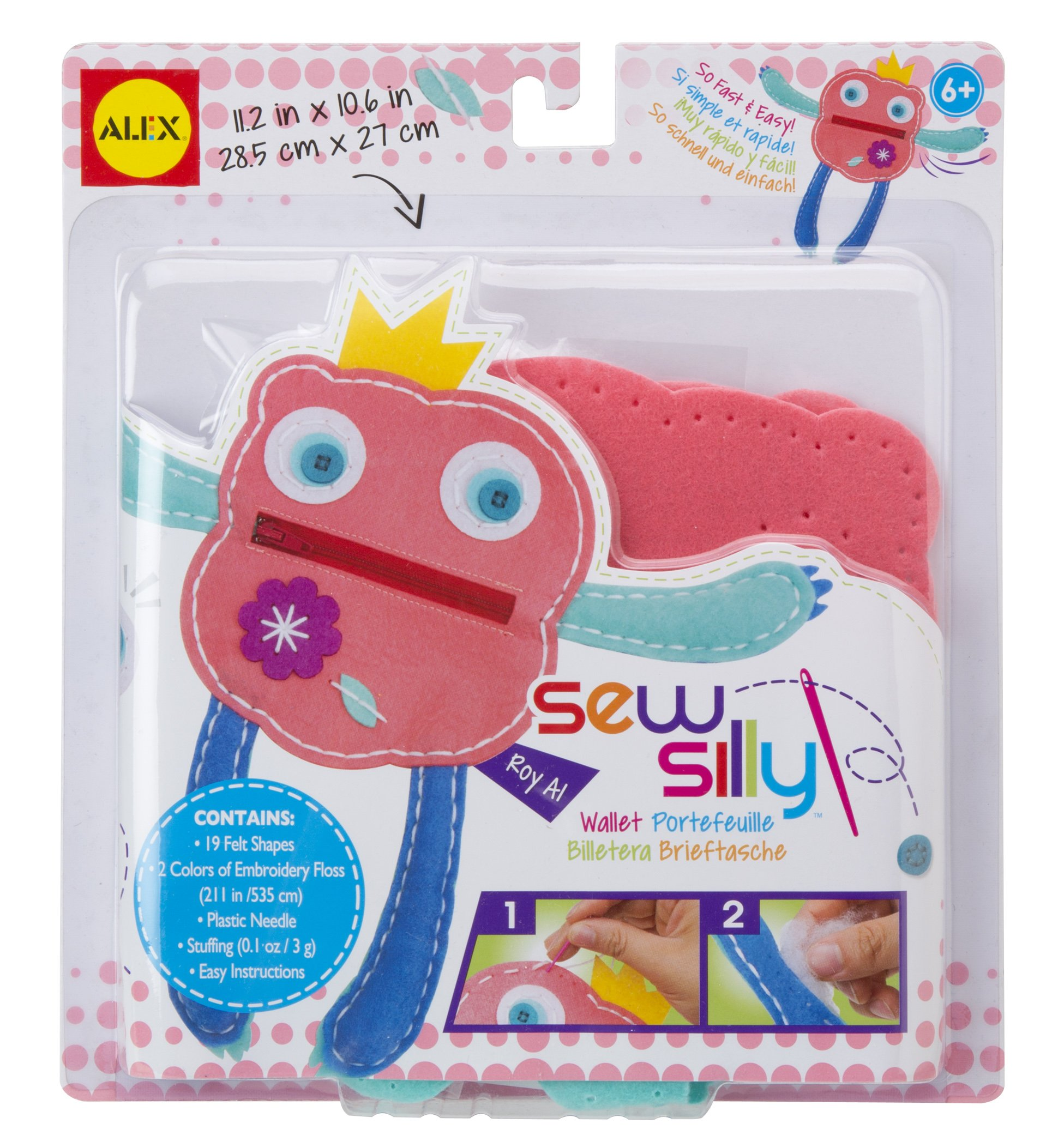 ALEX Toys Do-it-Yourself Wear Sew Silly Wallet Craft Kit with Monster Designs