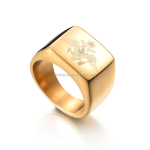 18ct gold male ring man jewelry titanium jewellery