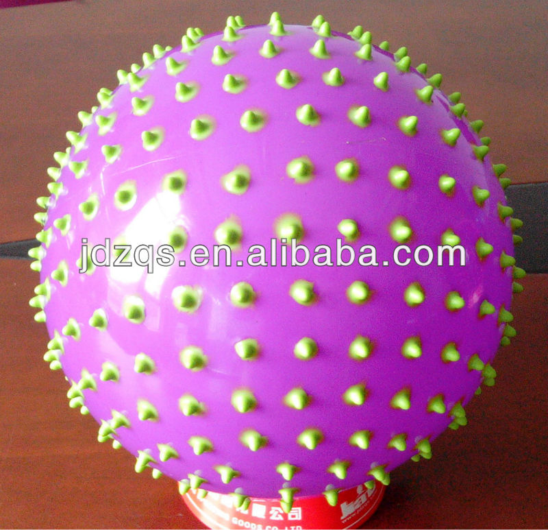 China wholesale kid toy ball Massage ball/Plastic ball -Purple and Green